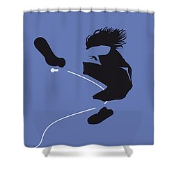No008 My Pearl Jam Minimal Music Poster Shower Curtain by Chungkong Art