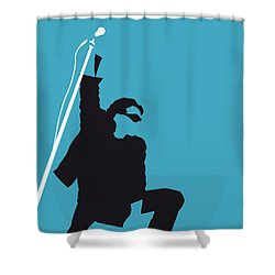 No035 My U2 Minimal Music Poster Shower Curtain by Chungkong Art