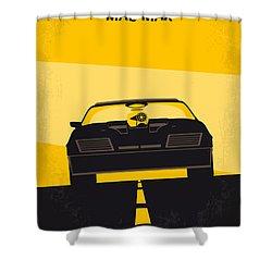 No051 My Mad Max Minimal Movie Poster Shower Curtain by Chungkong Art