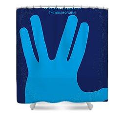 No082 My Star Trek 2 Minimal Movie Poster Shower Curtain by Chungkong Art