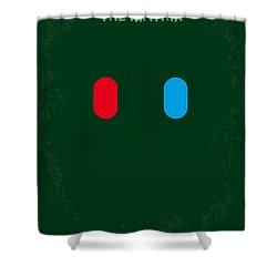 No117 My Matrix Minimal Movie Poster Shower Curtain by Chungkong Art