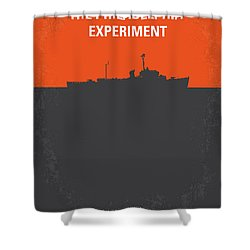 No126 My The Philadelphia Experiment Minimal Movie Poster Shower Curtain by Chungkong Art