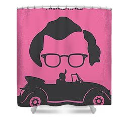 No147 My Annie Hall Minimal Movie Poster Shower Curtain by Chungkong Art