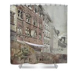 No.1590 Palazzo Agostini, Pisa, 1845 Shower Curtain by John Ruskin