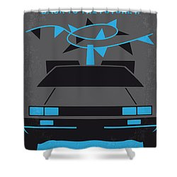No183 My Back To The Future Minimal Movie Poster-part II Shower Curtain by Chungkong Art