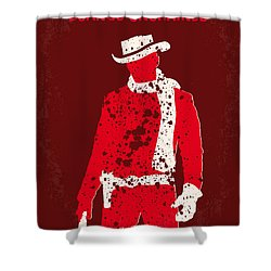 No184 My Django Unchained Minimal Movie Poster Shower Curtain by Chungkong Art
