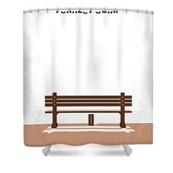 No193 My Forrest Gump Minimal Movie Poster Shower Curtain by Chungkong Art