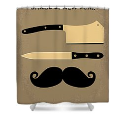 No195 My Gangs Of New York Minimal Movie Poster Shower Curtain by Chungkong Art