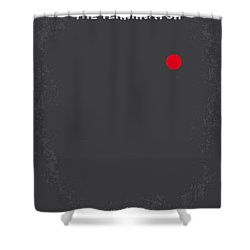 No199 My Terminator Minimal Movie Poster Shower Curtain by Chungkong Art