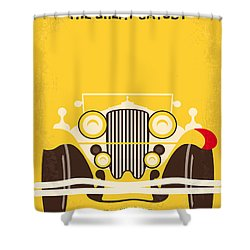 No206 My The Great Gatsby Minimal Movie Poster Shower Curtain by Chungkong Art