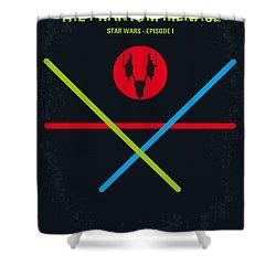 No223 My Star Wars Episode I The Phantom Menace Minimal Movie Poster Shower Curtain by Chungkong Art