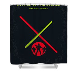 No224 My Star Wars Episode II Attack Of The Clones Minimal Movie Poster Shower Curtain by Chungkong Art