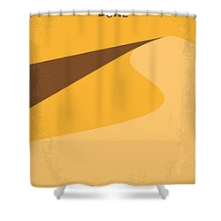 No251 My Dune Minimal Movie Poster Shower Curtain by Chungkong Art