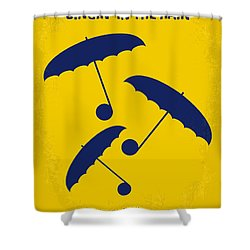 No254 My Singin In The Rain Minimal Movie Poster Shower Curtain by Chungkong Art