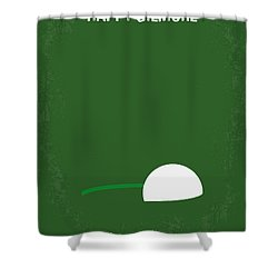No256 My Happy Gilmore Minimal Movie Poster Shower Curtain by Chungkong Art