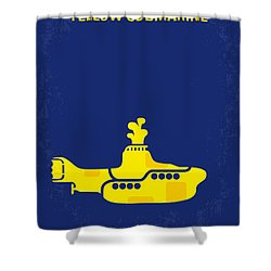 No257 My Yellow Submarine Minimal Movie Poster Shower Curtain by Chungkong Art