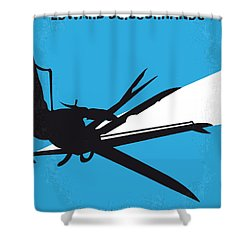 No260 My Scissorhands Minimal Movie Poster Shower Curtain by Chungkong Art