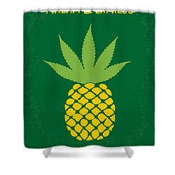 No264 My Pineapple Express Minimal Movie Poster Shower Curtain by Chungkong Art