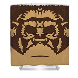 No270 My Planet Of The Apes Minimal Movie Poster Shower Curtain by Chungkong Art