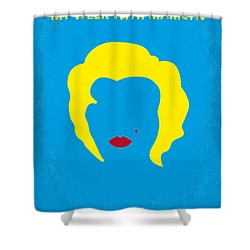 No284 My Week With Marilyn Minimal Movie Poster Shower Curtain by Chungkong Art