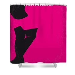 No307 My Pretty Woman Minimal Movie Poster Shower Curtain by Chungkong Art