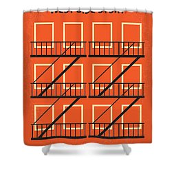 No387 My West Side Story Minimal Movie Poster Shower Curtain by Chungkong Art