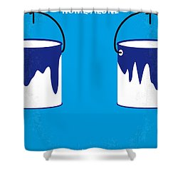 No427 My Home Alone Minimal Movie Poster Shower Curtain by Chungkong Art