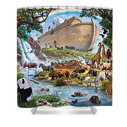 Noahs Ark - The Homecoming Shower Curtain by Steve Crisp