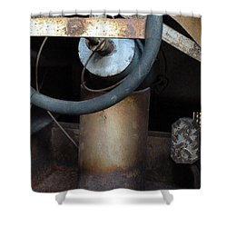 Nobody At The Controls Shower Curtain by Newel Hunter