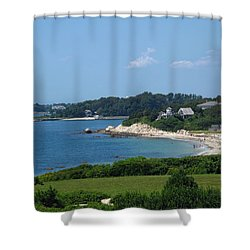 Nobska Beach Shower Curtain by Barbara McDevitt
