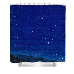 Nocturnal Landscape Shower Curtain by Francois-Louis Schmied