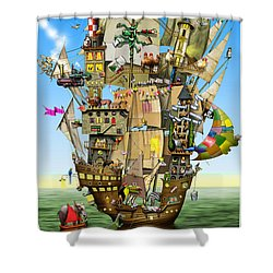 Norah's Ark Shower Curtain by Colin Thompson
