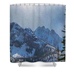 North Cascades Inspiration Shower Curtain by Omaste Witkowski