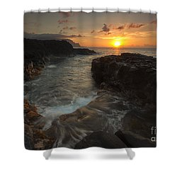 North Shore Paradise Shower Curtain by Mike  Dawson