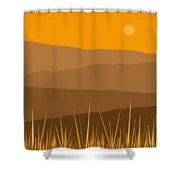 North Shower Curtain by Val Arie