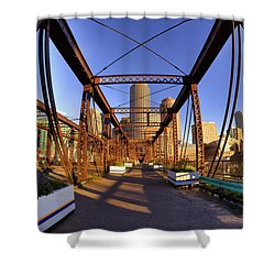 Northern Avenue Bridge Shower Curtain by Joann Vitali