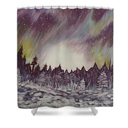 Northern Lights  Shower Curtain by Irina Astley