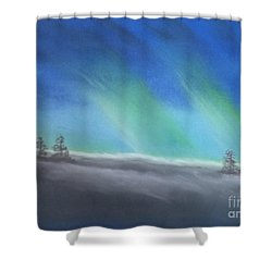 Northern Lights Shower Curtain by Tracey Williams