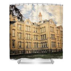 Northern Michigan Asylum Shower Curtain by Michelle Calkins