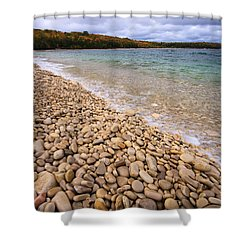 Northern Shores Shower Curtain by Adam Romanowicz