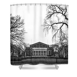 Northrop Auditorium At The University Of Minnesota Shower Curtain by Tom Gort