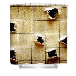 Notebook With Holes Shower Curtain by Michal Bednarek