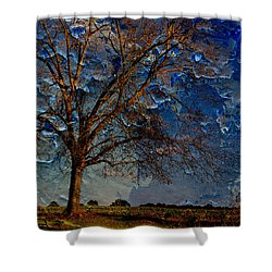 Nothing But Blue Skies Shower Curtain by Jan Amiss Photography