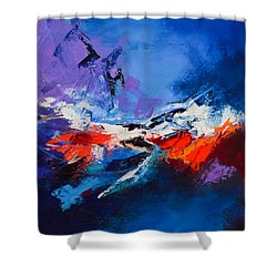 Nothing Else Matters Shower Curtain by Elise Palmigiani