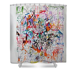 Nothing Left But Prayer Shower Curtain by David Baruch Wolk