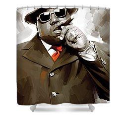 Notorious Big - Biggie Smalls Artwork 3 Shower Curtain by Sheraz A