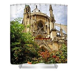 Notre Dame De Paris Shower Curtain by Elena Elisseeva