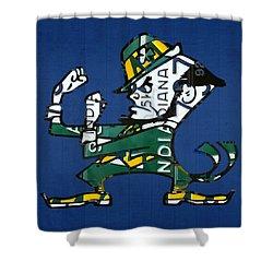 Notre Dame Fighting Irish Leprechaun Vintage Indiana License Plate Art  Shower Curtain by Design Turnpike