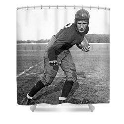 Notre Dame Star Halfback Shower Curtain by Underwood Archives