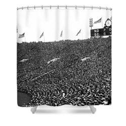 Notre Dame-usc Scoreboard Shower Curtain by Underwood Archives